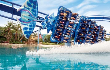 Manta Roller Coaster at SeaWorld Orlando
