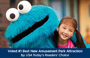 Sesame Street Land voted #1 Best New Amusement Park Attraction by USAToday's Readers' Choice