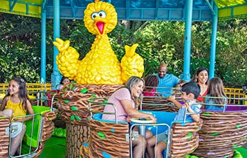 Big Bird's Twirl N Whirl at Sesame Street Land at SeaWorld Orlando