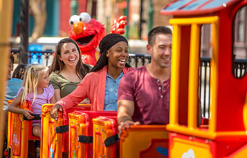 Elmo's Choo Choo Train at Sesame Street Land at SeaWorld Orlando