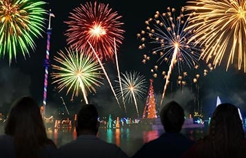 Holiday Reflections New Years Eve Fireworks at SeaWorld Orlando