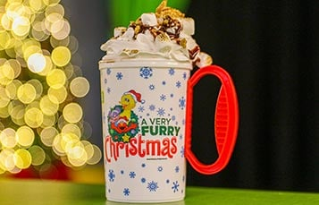 S'mores Hot Chocolate during A Very Furry Christmas at Sesame Place