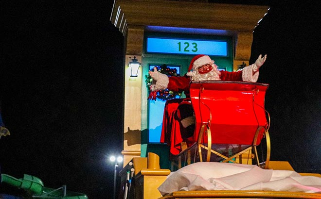 Say hello to Santa during the Furry & Bright Christmas Drive-Thru at Sesame Place