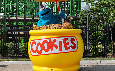 Meet Cookie Monster at Sesame Place