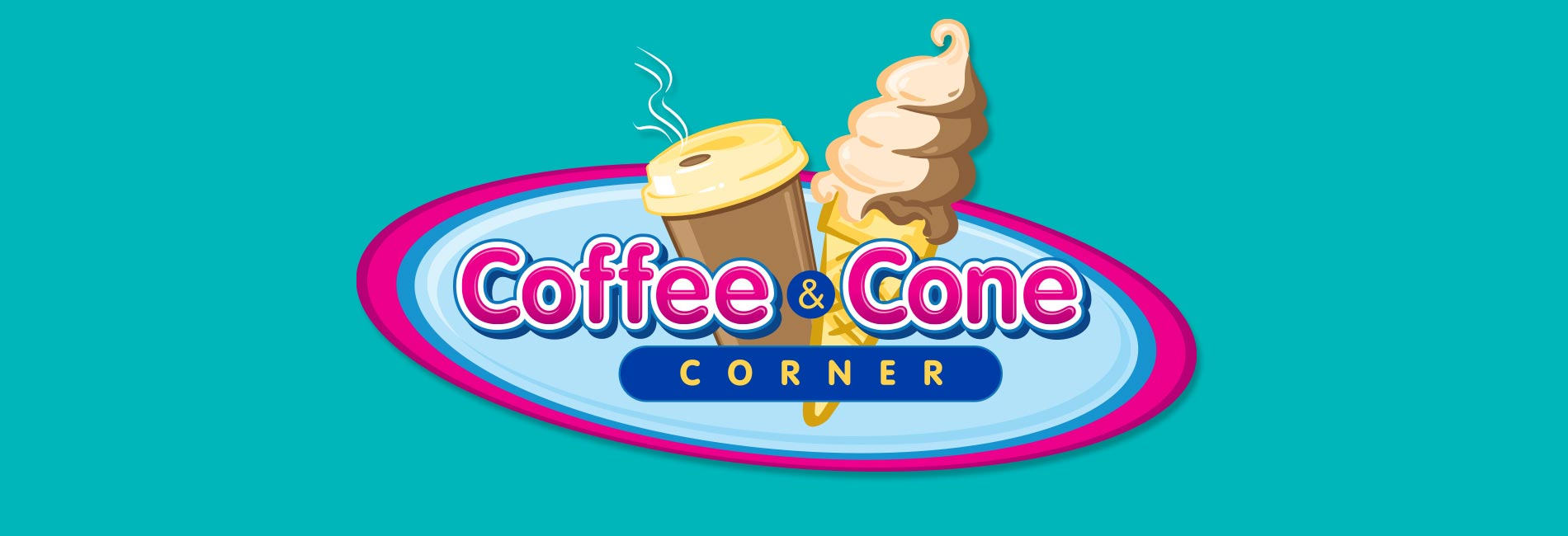 Coffee and Cone Corner at Sesame Place