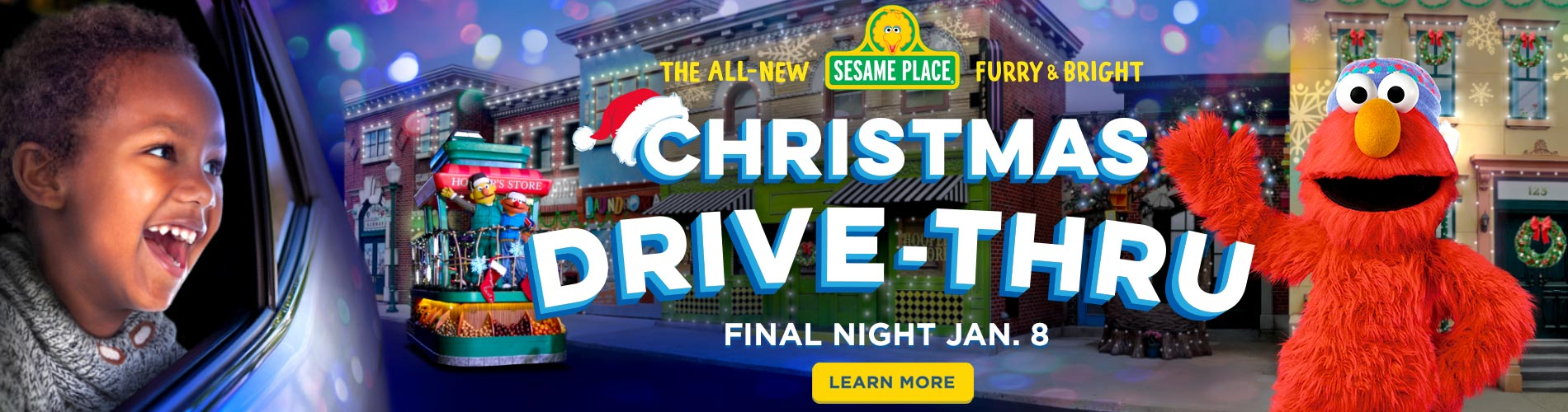 The All New Furry and Bright Christmas Drive Thru at Sesame Place