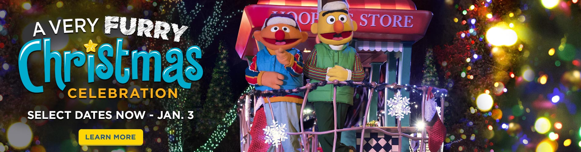 A Very Furry Christmas Celebration at Sesame Place