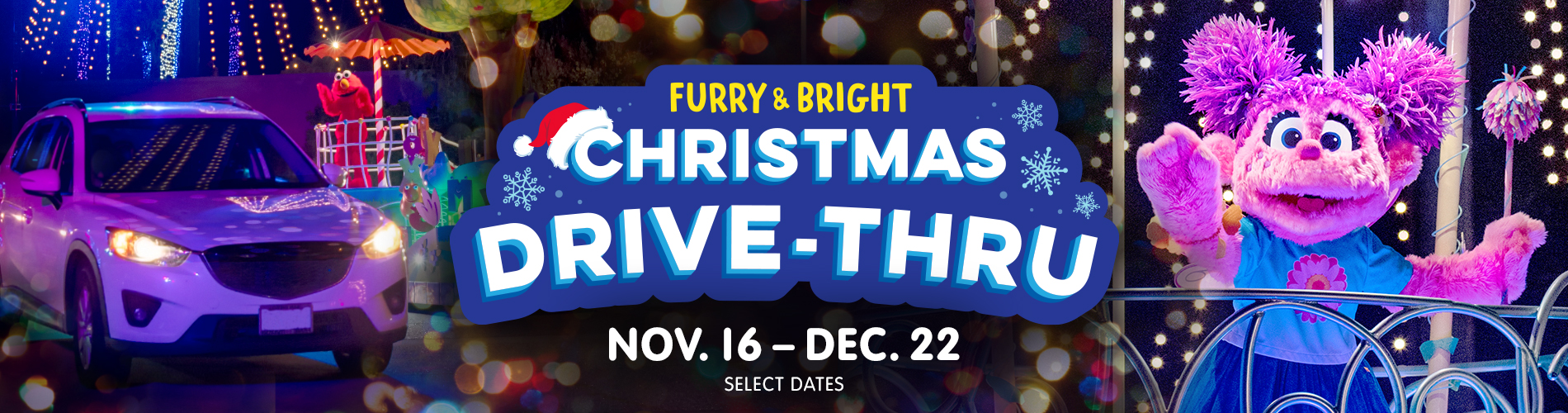 The All-New Furry and Bright Christmas Drive Thru at Sesame Place