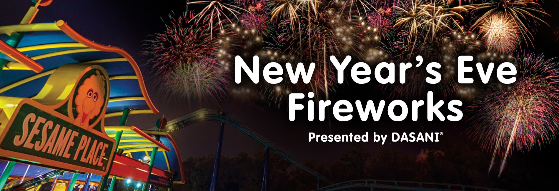 New Years Eve Fireworks at Sesame Place