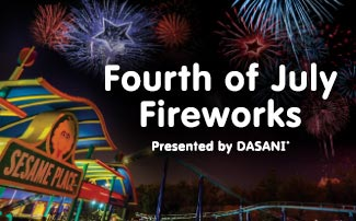 Fourth of July Fireworks at Sesame Place