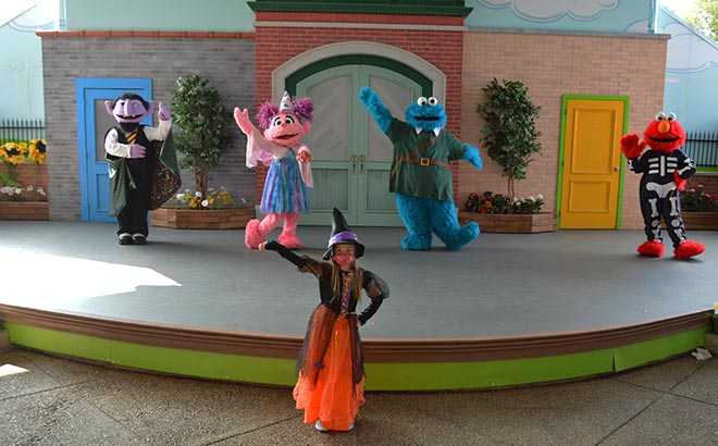 Halloween Rose with Cast at Sesame Place