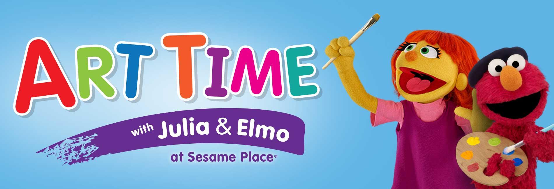Art with Julia & Elmo