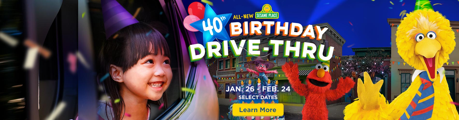 All-New Sesame Place 40th Birthday Drive-Thru Experience
