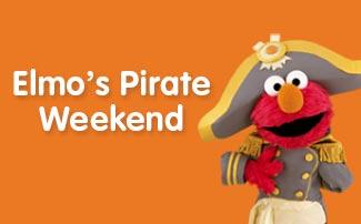 Elmos Pirate Weekend during Elmos Springtacular at Sesame Place