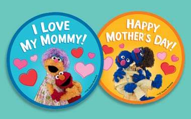 """All mom's will be given a special """"Happy Mother's Day"""" sticker as they enter the Sesame Place during Mother's Day Weekend."""