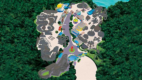 Sesame Place Theme Park Map Spring 2021