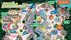 Sesame Place Elmos Eggstravaganza Event Map