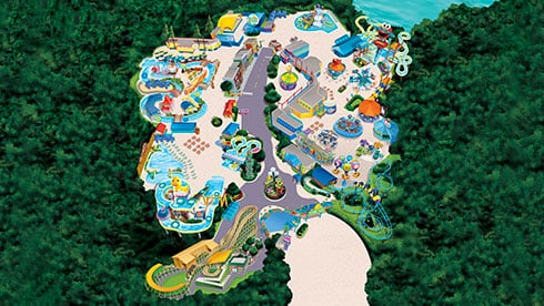 Theme park map for Sesame Place