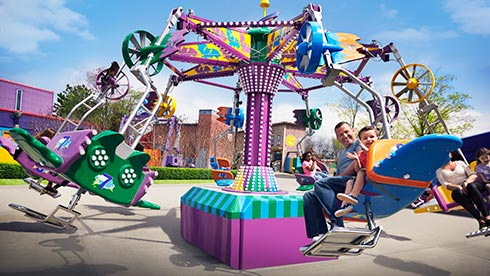 Family-friendly rides at Sesame Place