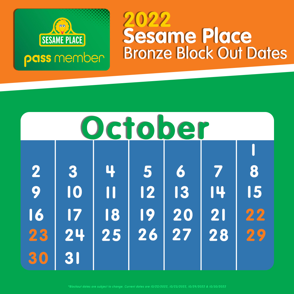 2021 and 2022 Blockout Bronze Dates