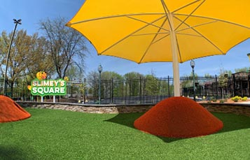Slimeys Square play area at Sesame Place