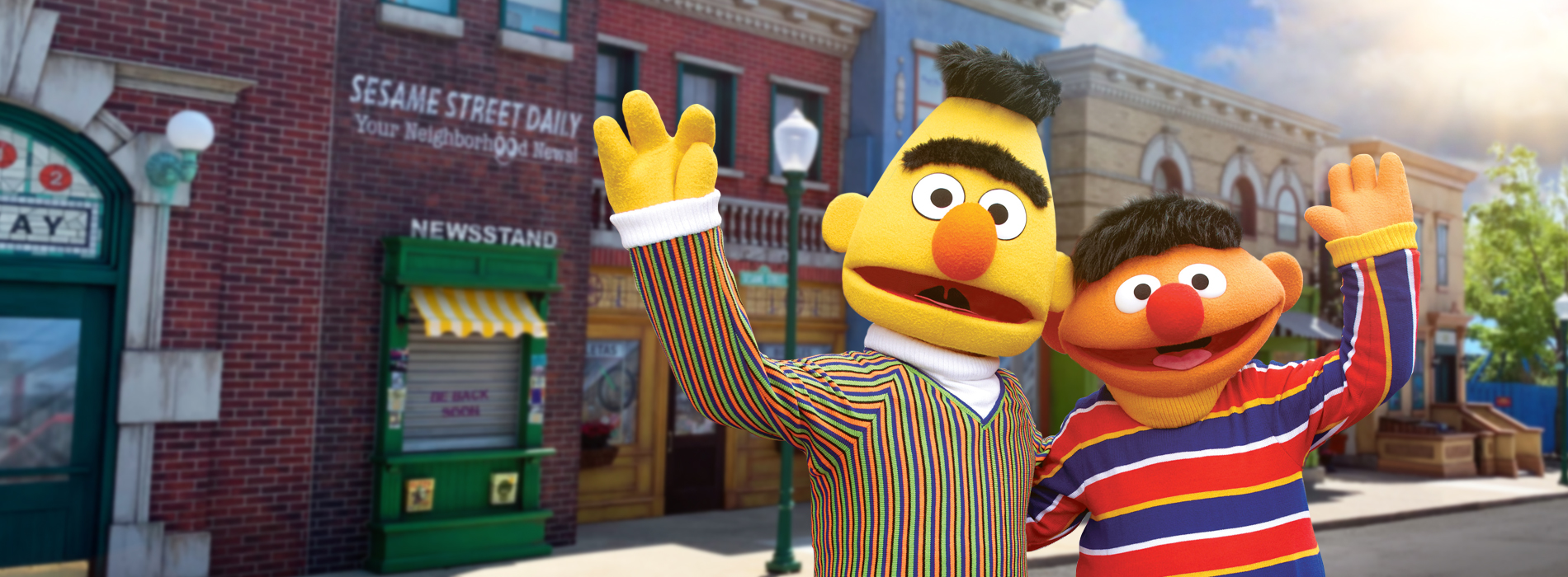 Bert and Ernie at Sesame Place theme park