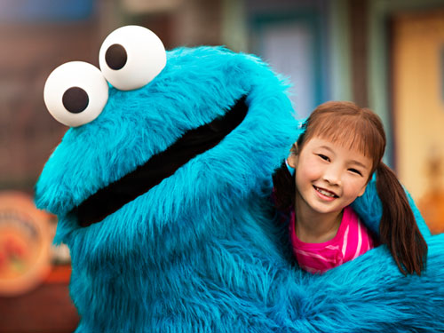 cookie Monster with girl