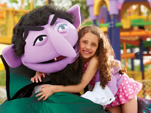 Count and girl at Splash Castle