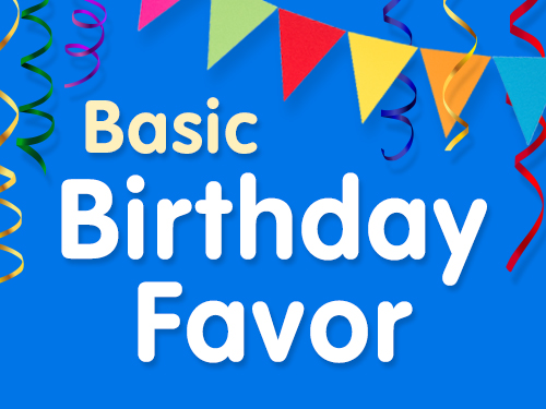 Basic Birthday Party Favor