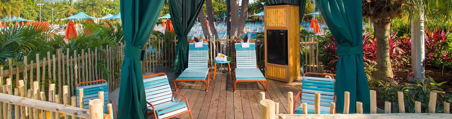 Private Cabanas available at Aquatica Orlando Water Park