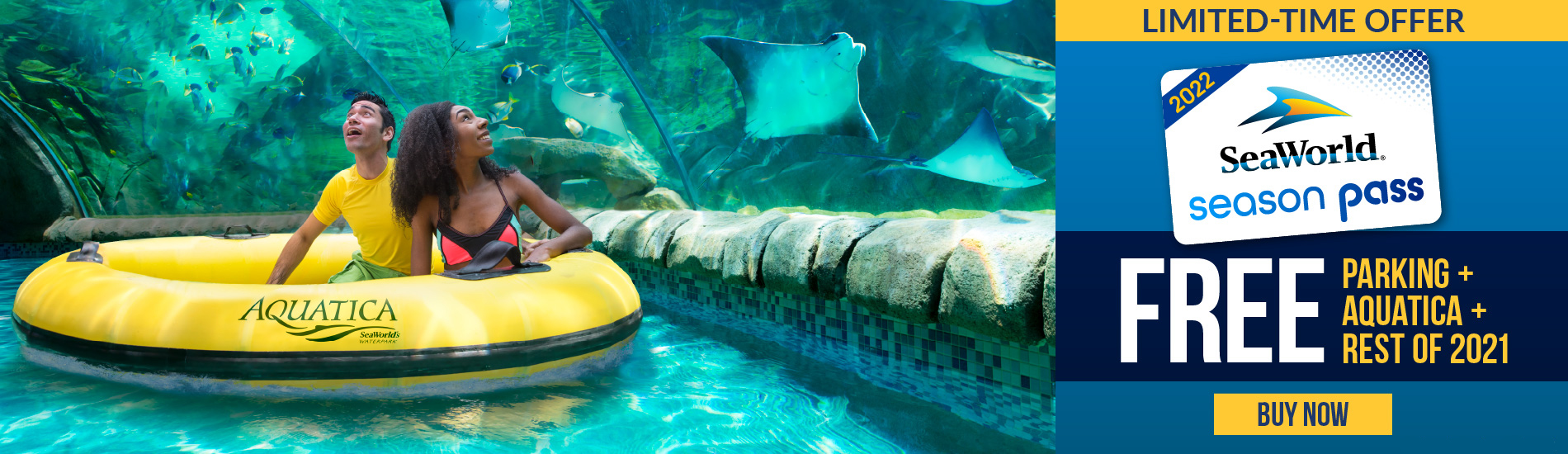 Buy a 2022 Season Pass, Get the Rest of 2021 and Aquatica Free