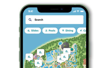 Aquatica San Antonio Mobile App Map