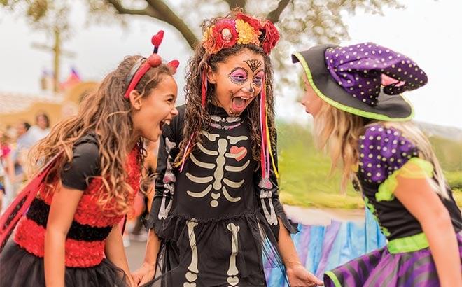Costumed children at SeaWorld Spooktacular