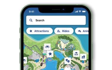 SeaWorld Orlando Mobile Park App Interactive Map