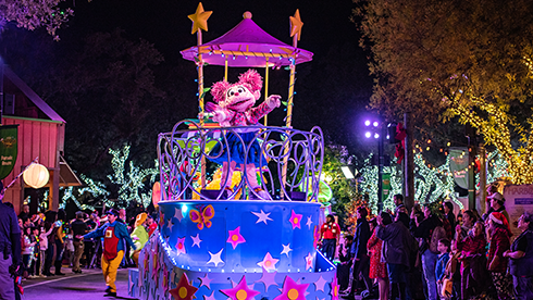 Sesame Street Christmas Parade at SeaWorld San Antonio