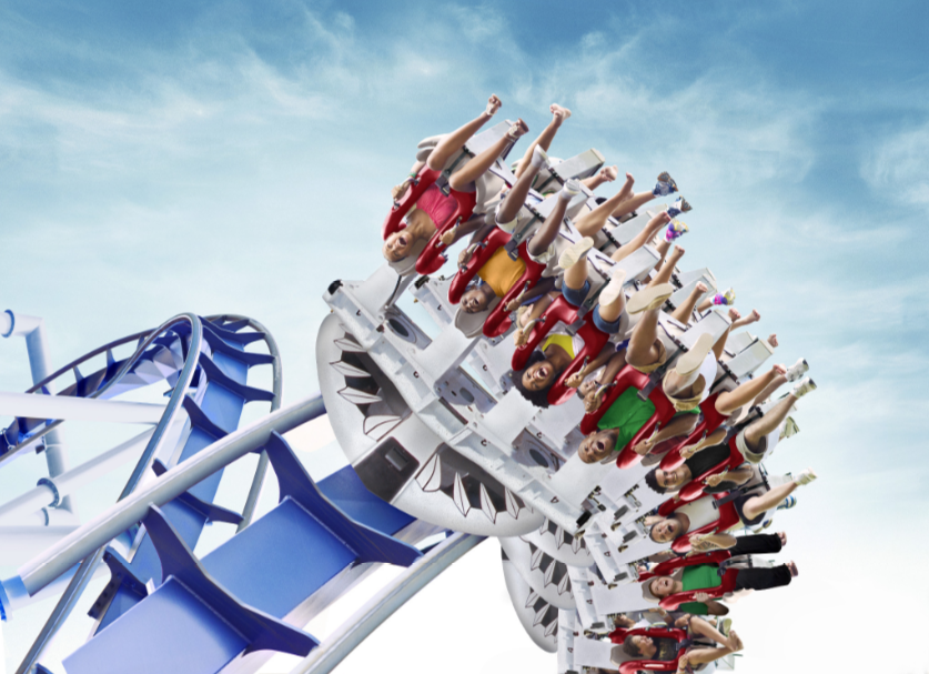Great White Roller Coaster at SeaWorld San Antonio