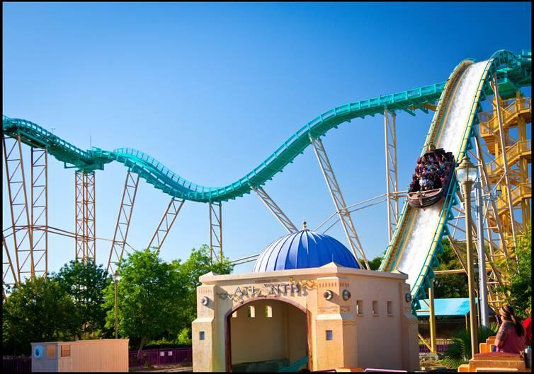 Journey to Atlantis Roller Coaster at SeaWorld San Antonio