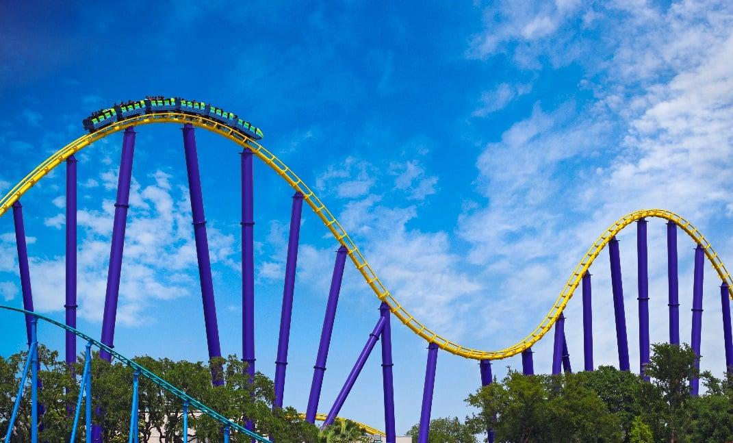 Steel Eel Roller Coaster at SeaWorld San Antonio