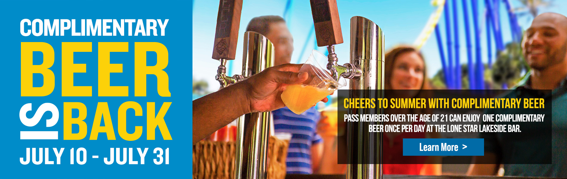 Complimentary Beer is Back