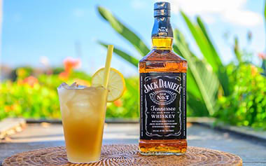 Jack Daniels cocktail at SeaWorld San Antonio Seven Seas Food Festival