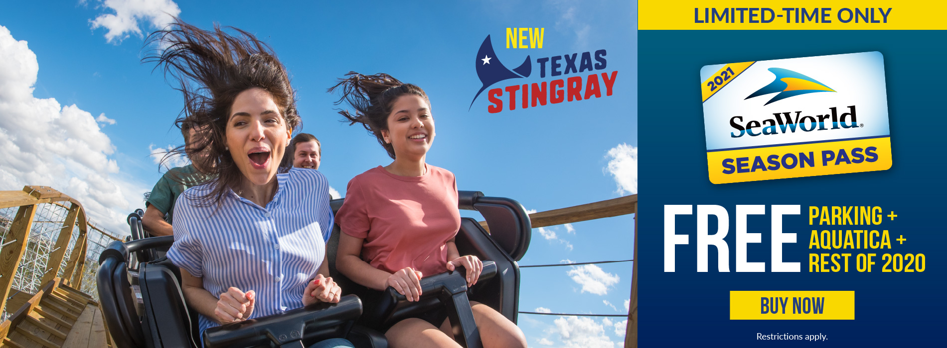SeaWorld Texas Pass Launch