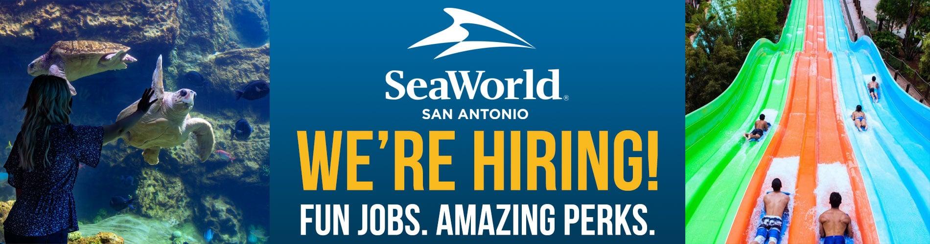 SeaWorld San Antonio is now hiring