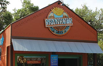 Spankys Fries at SeaWorld San Antonio