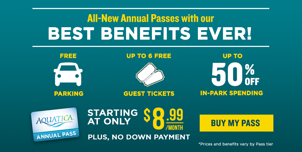 Annual Passes starting at $8.99 a month