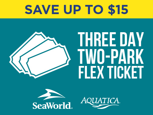 Save up to $15 on three day two park flex ticket