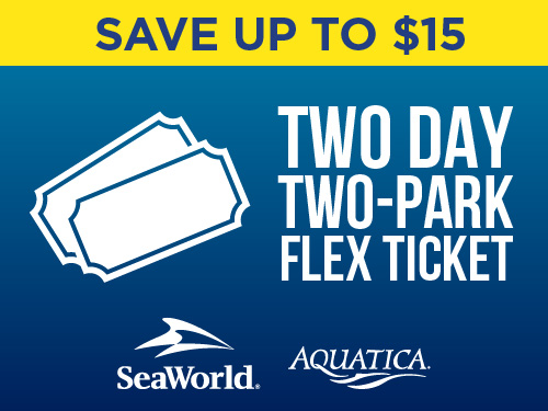 Save up to $15 Two Day Two Park Flex Ticket San Antonio
