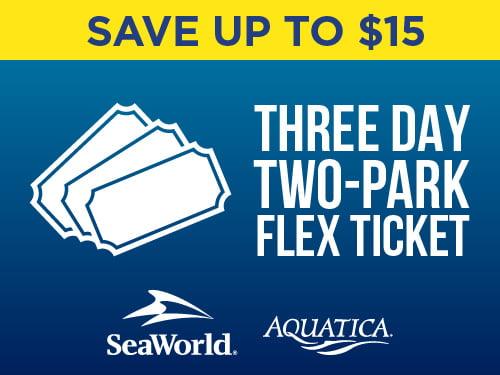Save up to $15 on Three Day Two Park Flex Ticket San Antonio