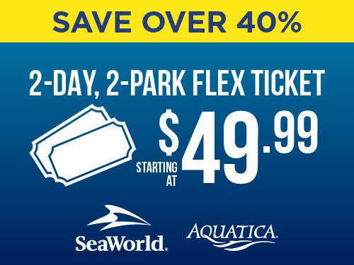 SeaWorld & Aquatica 2-Day, 2-Park Flex Ticket End of Summer Sale