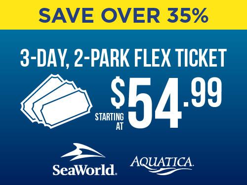 SeaWorld & Aquatica 3-Day, 2-Park Flex Ticket End of Summer Sale