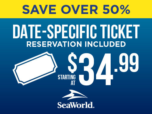 SeaWorld Single-Day Ticket End of Summer Sale